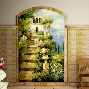 Kerry-kindness-living-room-wall-painted-a-large-mural-wallpaper-background-wallpaper-entrance-hallway-European-Mediterranean