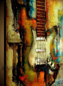 music instruments oil painting of abstraction painting